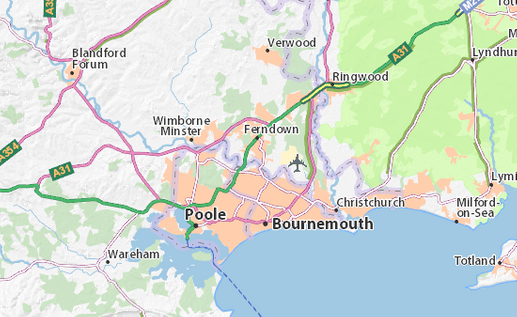 Bournemouth and Poole maps