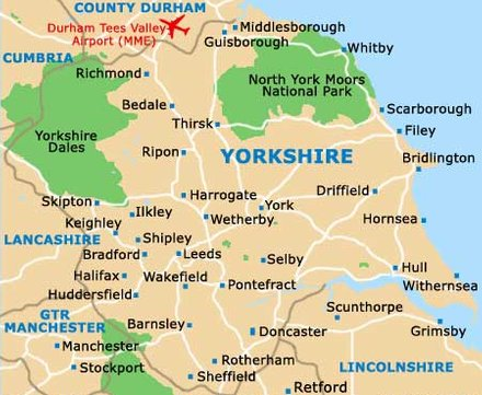 Map South Yorkshire
